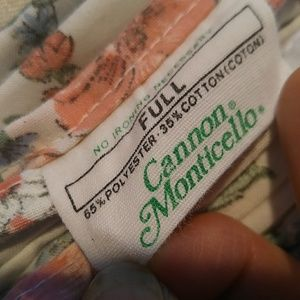 cannon Bedding - Vintage Cannon Monticello Full Size Top Sheet / pi
